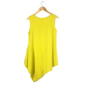 chalet Tops - Chartreuse Asymmetrical Tunic